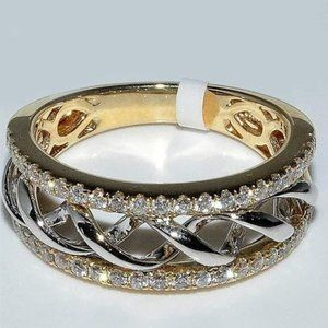 Link Jewelry - Stunning Chain Link Yellow Gold Plated Ring